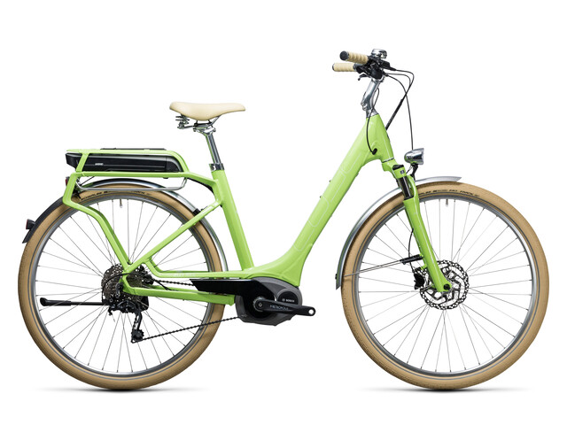 Cube Elly Ride Hybrid 500 Bicicletta elettrica da città Donna Easy Entry verde